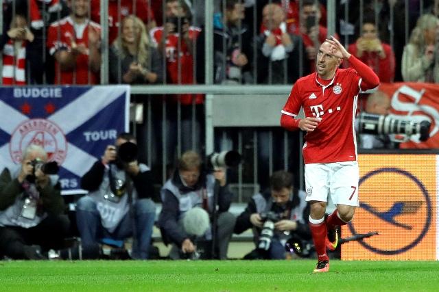 Na snímke hráč Bayernu Mníchov Franck Ribéry