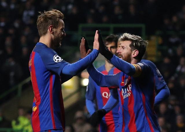 Na ilustračnej snímke hráči Barcelony