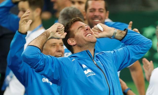 Na snímke argentínsky tenista Juan Del Potro