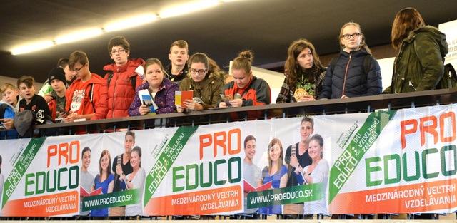 Na snímke 10. ročník medzinárodného veľtrhu vzdelávania Pro Educo v Spoločenskom pavilóne v Košiciach 29. novembra 2016