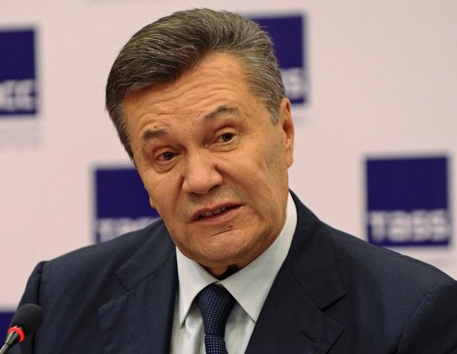 Na snímke Viktori Janukovič