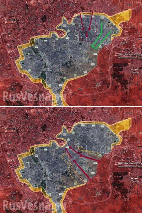Sýrska armáda za pomoci ruského letectva pokračuje v útoku v Aleppe