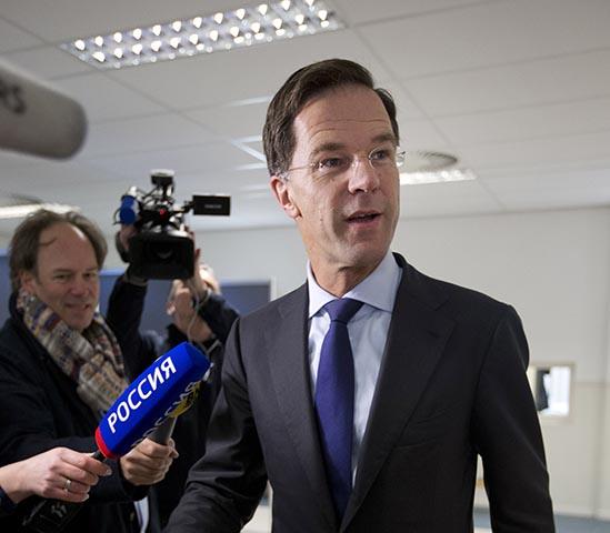 Na snímke holandský premiér Mark Rutte