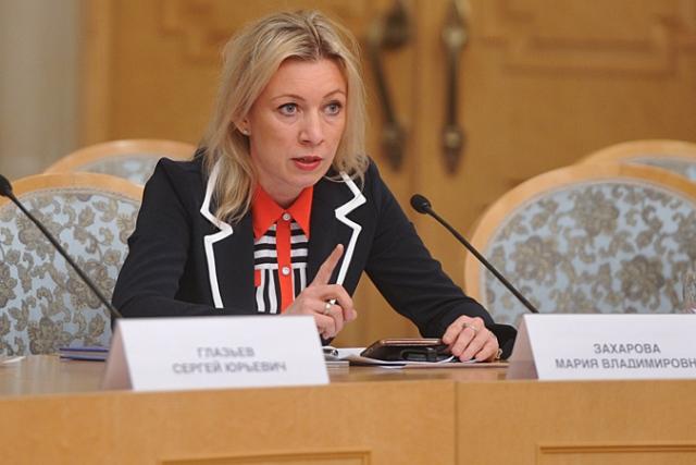 Na snímke hovorkyňa diplomatického rezortu Mária Zacharovová Foto:MVZ Ruska