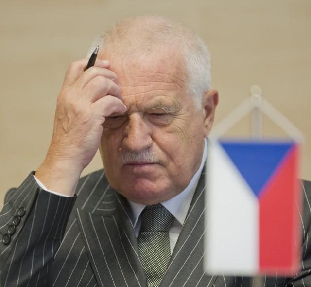 Na snímke bývalý český prezident Václav Klaus