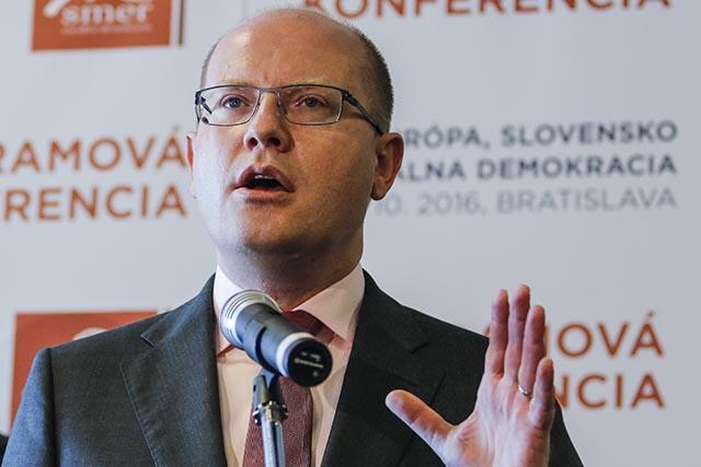 Na snímke predseda Českej strany sociálnodemokratickej (ČSSD) a predseda vlády ČR Bohuslav Sobotka