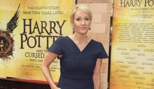 Na snímke britská autorka Joanne K. Rowlingová