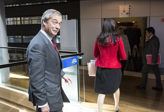 Bývalý predseda Strany nezávislosti Spojeného kráľovstva (UKIP) a europoslanec Nigel Farage