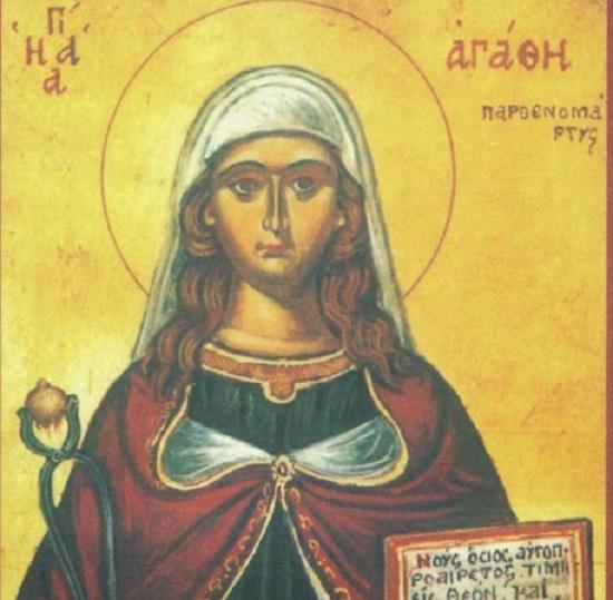 Svätá Agáta , panna a mučenica