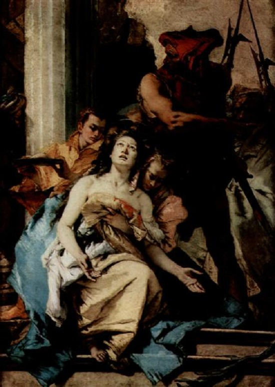 Martýrium svätej Agáty, olejomaľba  Giovanni Battista Tiepolo, r.1750