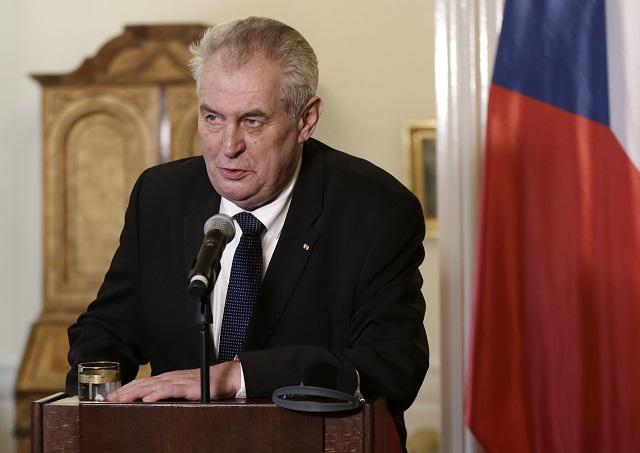 Na snímke Miloš Zeman