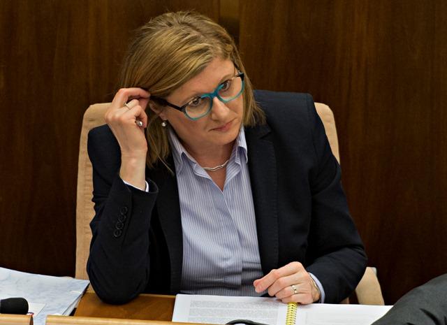 Na snímke ministerka pôdohospodárstva a rozvoja vidieka Gabriela Matečná