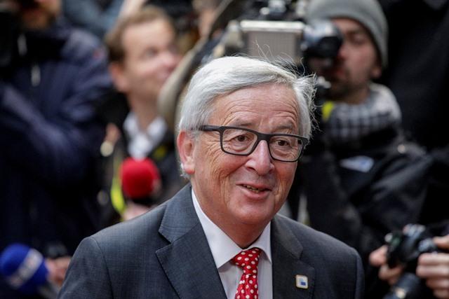 Na snímke predseda Európskej komisie (EK) Jean-Claude Juncker