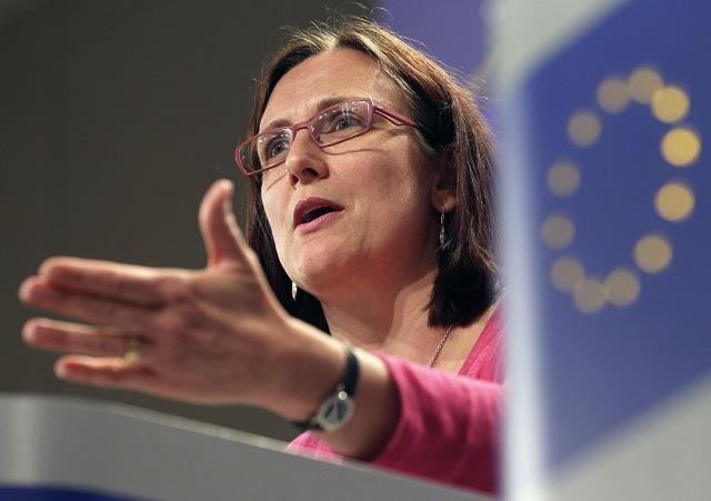 Na snímke  komisárka pre vnútorné záležitosti Cecilia Malmströmová