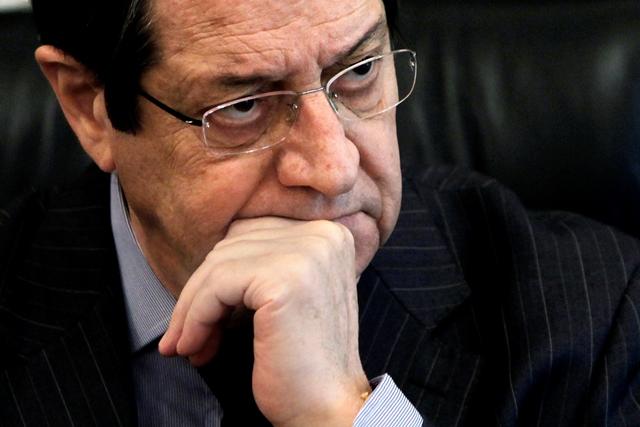 Na snímke cyperský prezident Nicos Anastasiadis