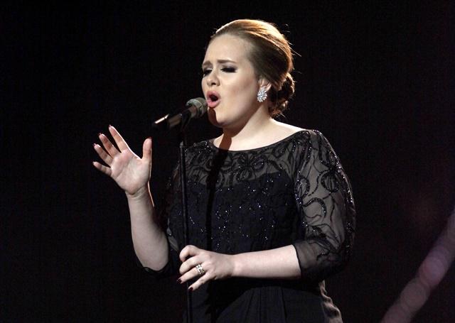 Na snímke speváčka Adele