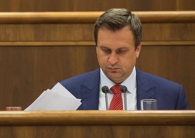 Na snímke predseda parlamentu Andrej Danko (SNS)