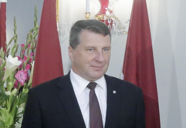 Na snímke lotyšský prezident Raimonds Véjonis