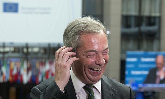 Líder protieurópskej strany UKip Nigel Farage