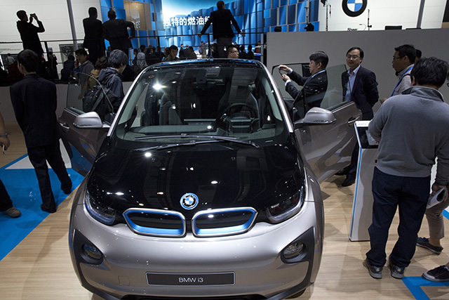 Na snímke najnovší model elektromobilu BMW i3