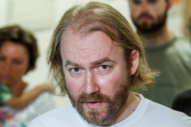 Na snímke zástupca Iniciatívy slovenských učiteľov Vladimír Crmoman