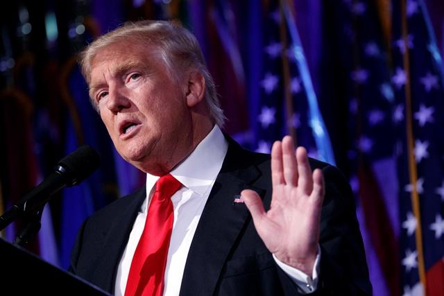 Na snímke nový americký prezident Donald Trump