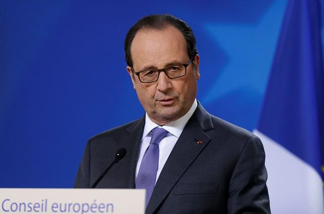 Na snímke francúzsky prezident Francois Hollande
