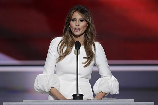 Manželka novozvoleného prezidenta USA Melanie Trumpová.