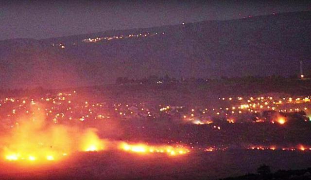Na snímke z videa rozsiahly požiar