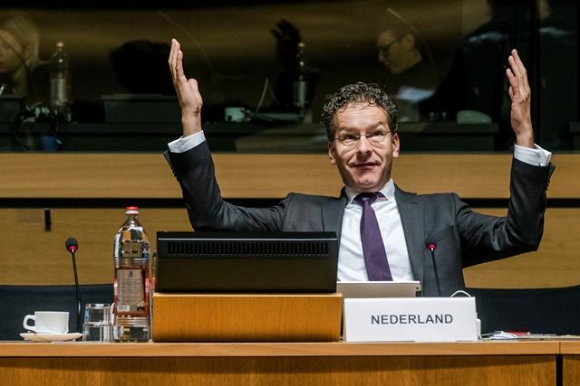 Na snímke holandský minister financií a predseda Euroskupiny Jeroen Dijsselbloem