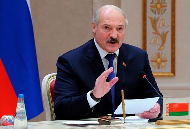 Na snímke bieloruský prezident Alexander Lukašenko