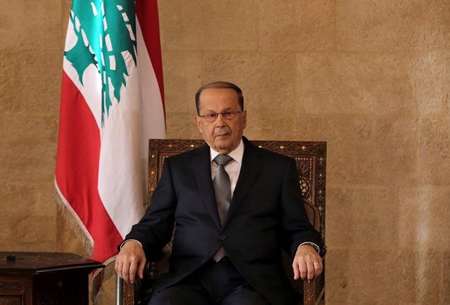 Na snímke novozvolený libanonský prezident Michel Aún