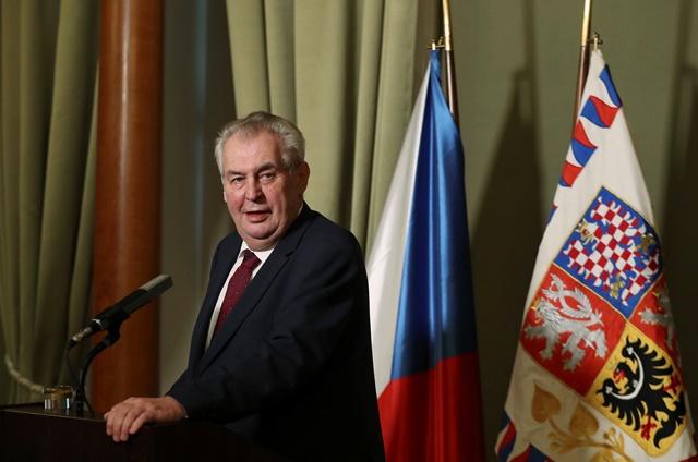 Na snímke prezident Českej republiky Miloš Zeman