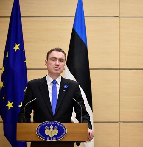 Na snímke estónsky premiér Taavi Roivas