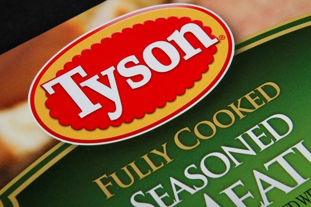 Na snímke logo spoločnosti Tyson Foods