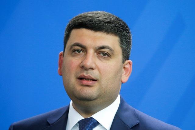 Na snímke Volodymyr Hrojsman