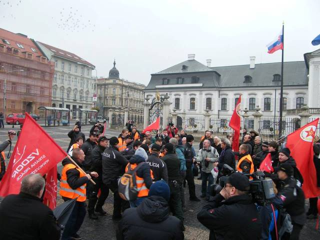 Na snímke  zatknutie  Stanislava Pirošíka