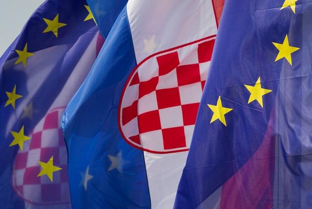 Na snímke chorvátska vlajka
