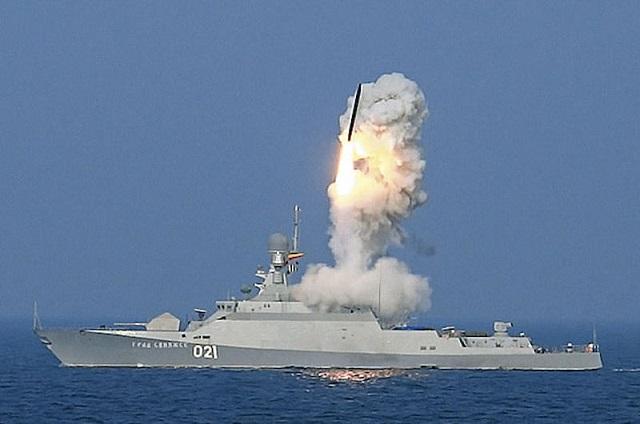 Loď vystrelený Kaliber