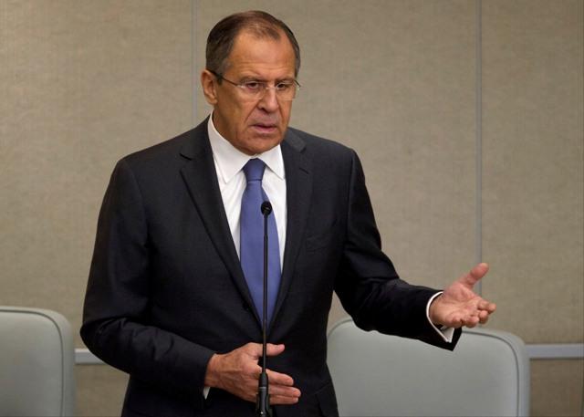 Na snímke ruský minister zahraničných vecí Sergej Lavrov