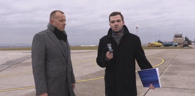 Boris Kollár na piešťanskom letisku