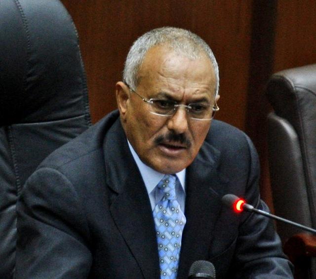 Na snímke jemenský exprezident Alí Abdalláh Sálih