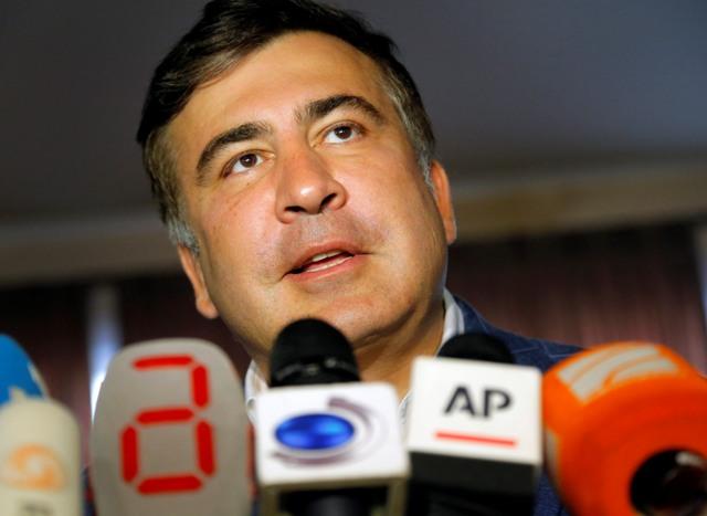 Na snímke gubernátor Odeskej oblasti Michail Saakašvili