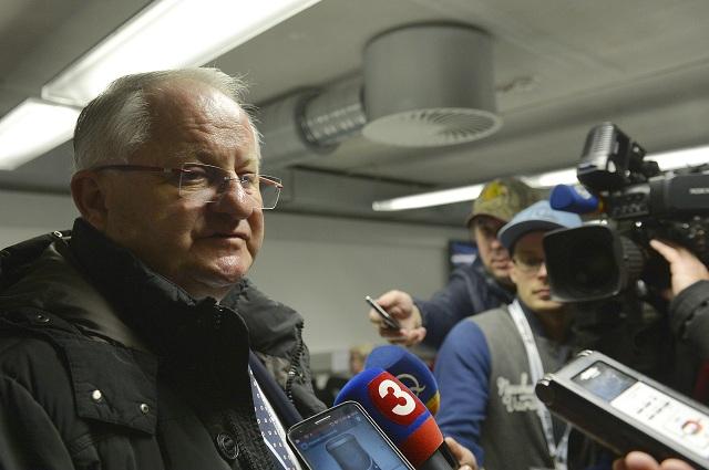 Na snímke konzultant slovenskej hokejovej reprezentácie Július Šupler
