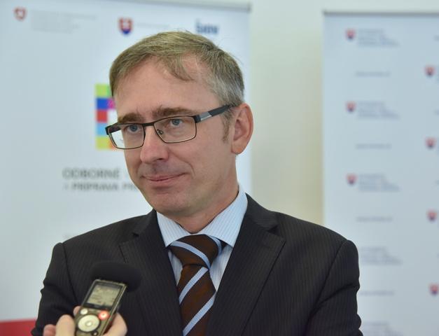 Na snímke riaditeľ Štátneho inštitútu odborného vzdelávania Michal Bartók