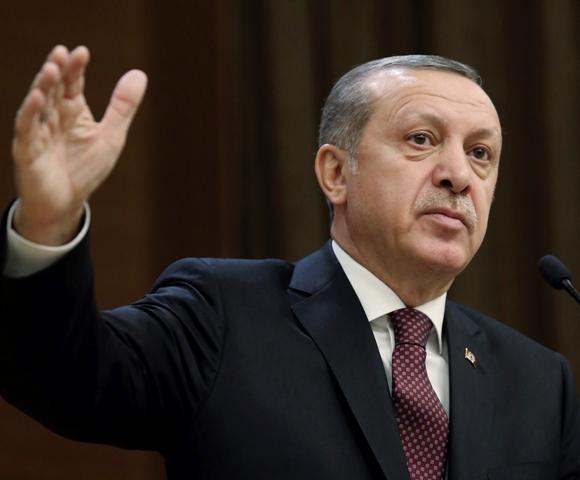 Na snímke turecký prezident Recep Tayyip Erdogan Foto:TASR-Yasin Bulbul, Presidential Press Service, Pool photo via AP