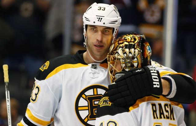 Na snímke Zdeno Chára z Bostonu Bruins