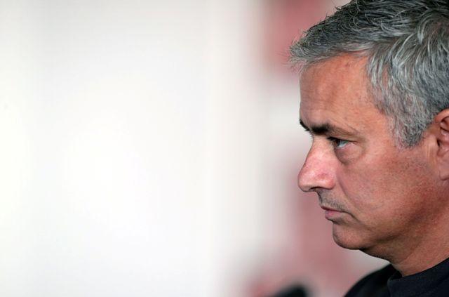 Na snímke tréner Manchestru United José Mourinho