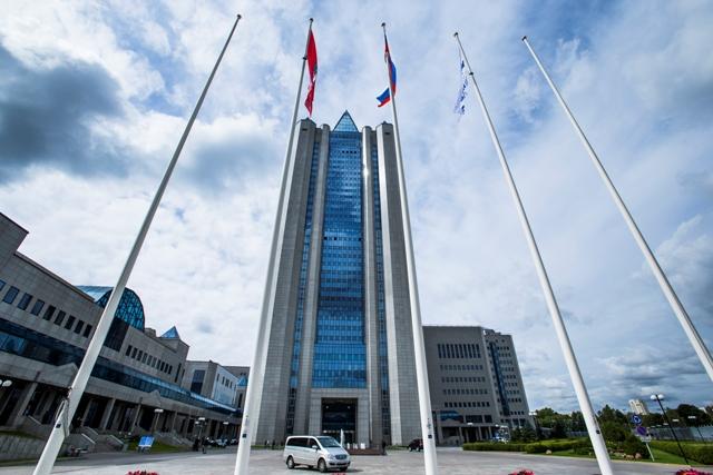 Na snímke sídlo Gazpromu v Moskve