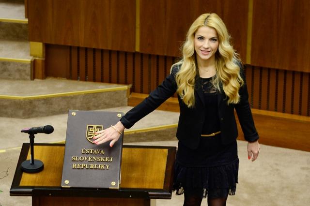 Na snímke poslankyňa Národnej rady SR Martina Šimkovičová (nezaradená)